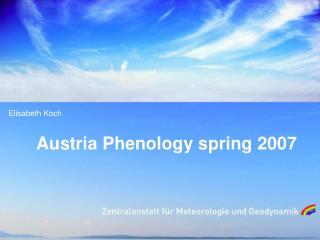 Austria Phenology spring 2007