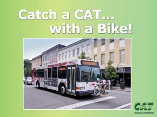 Catch a CAT... with a Bike!