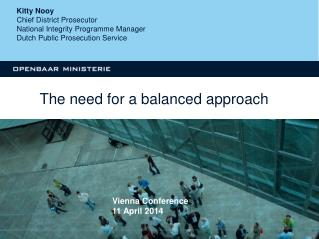 The need for a balanced approach