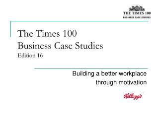 Times business case studies