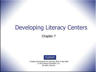 Developing Literacy Centers
