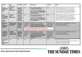 No Expanding Ads  OR  Pushdown 970x66 Ads  permitted or Pushdown on The Sunday Times new site