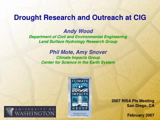 Drought Research and Outreach at CIG