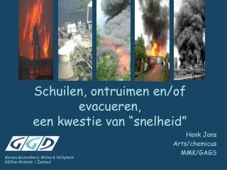 """Schuilen, ontruimen en/of evacueren,  een kwestie van """"snelheid"""""""