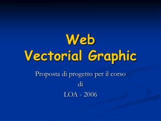 Web Vectorial Graphic