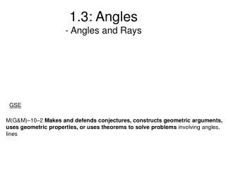 1.3: Angles - Angles and Rays