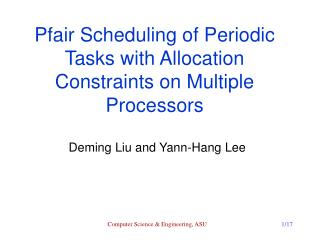 Pfair Scheduling of Periodic Tasks with Allocation Constraints on Multiple Processors