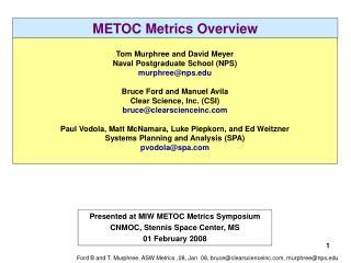 METOC Metrics Overview