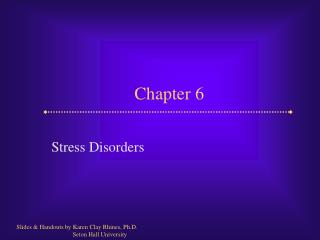Stress Disorders