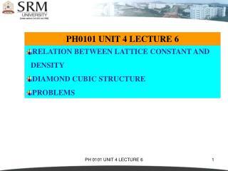 PH0101 UNIT 4 LECTURE 6