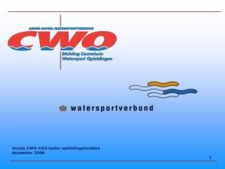 Versie CWO-CGO kader opleidingslocaties december 2008