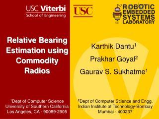 Relative Bearing Estimation using Commodity Radios