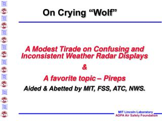 "On Crying ""Wolf"""