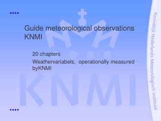 Guide meteorological observations KNMI