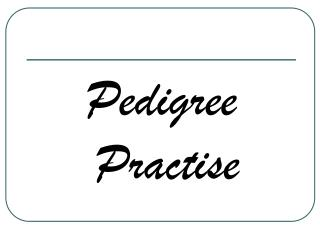 Pedigree Practise