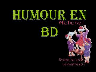 Humour en bd