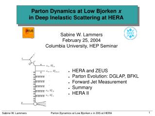 Parton Dynamics at Low Bjorken  x in Deep Inelastic Scattering at HERA