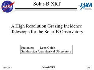 Solar-B XRT