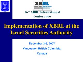 Implementation of XBRL at the Israel Securities Authority