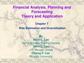 Financial Analysis, Planning and Forecasting Theory and Application