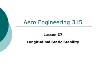 Aero Engineering 315