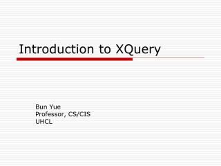 Introduction to XQuery