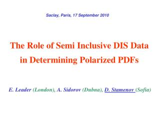 The Role of Semi Inclusive DIS Data in Determining Polarized PDFs