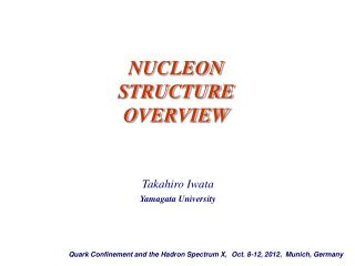 NUCLEON STRUCTURE OVERVIEW