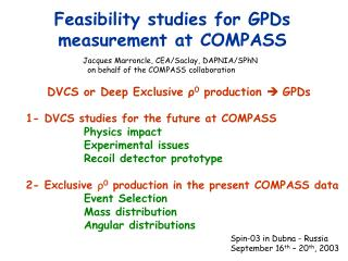 Feasibility studies for  GPDs measurement  at COMPASS