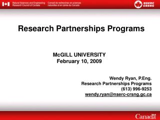 Research Partnerships Programs