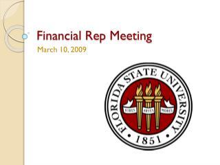 Financial Rep Meeting