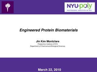 Engineered Protein Biomaterials