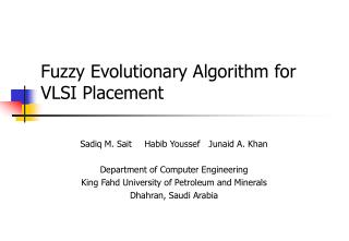 Fuzzy Evolutionary Algorithm for VLSI Placement