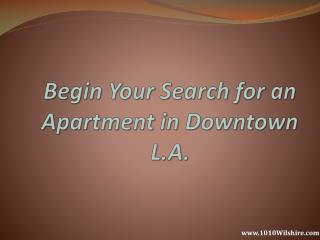 """Looking for a Quality   Rent Apartment In Los Angeles?"""