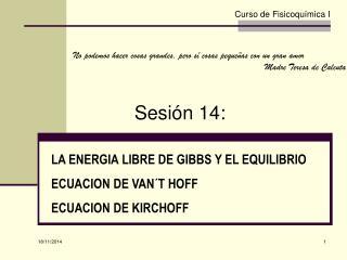 Sesión  14: