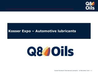 Kosser Expo – Automotive lubricants