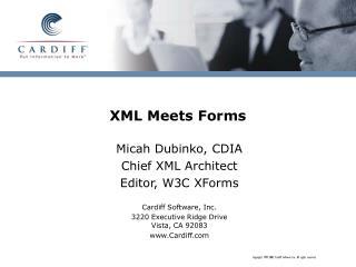 XML Meets Forms