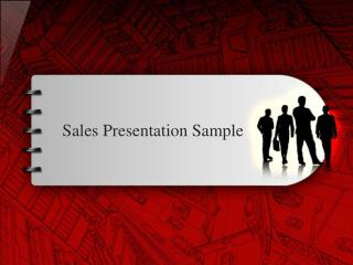 Sales Presentation Sample
