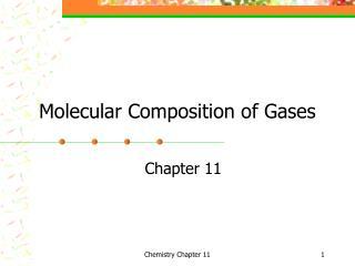Molecular Composition of Gases