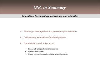 OSC in Summary