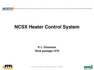 NCSX Heater Control System