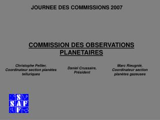 COMMISSION DES OBSERVATIONS PLANETAIRES