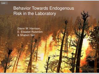 Behavior Towards Endogenous Risk in the Laboratory