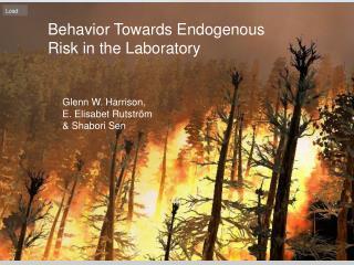 Behavior Towards Endogenous Risk in the Laboratory