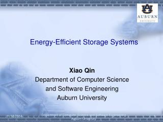 Energy-Efficient Storage Systems