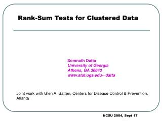 Rank-Sum Tests for Clustered Data