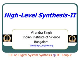 High-Level Synthesis-II