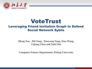 VoteTrust Leveraging Friend Invitation Graph  to  Defend Social Network Sybils
