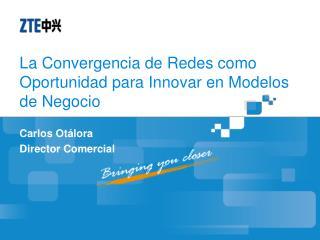 La Convergencia de Redes como Oportunidad para Innovar en  Modelos  de  Negocio