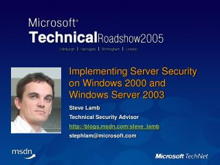 Implementing Server Security on Windows 2000 and Windows Server 2003